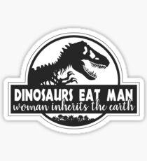 Pegatina Los dinosaurios comen al hombre