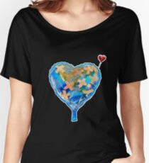 I Love You, Get Well Soon, You Mean The World To Me, Heart, Earth, Street Art Women's Relaxed Fit T-Shirt