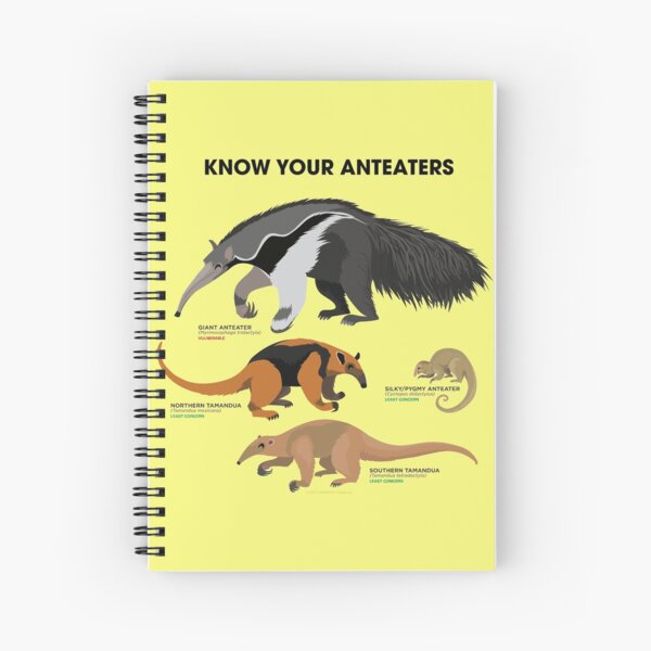 Know Your Anteaters Spiral Notebook
