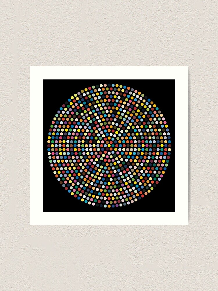 Damien Hirst Inspired Dots Art Print By Shophollyj Redbubble