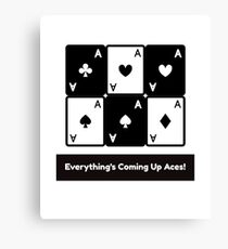 Asexual Asexualise Everything's Coming Up Aces! Asexual Ace Playing Cards Canvas Print
