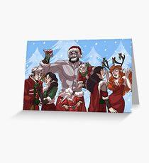 Ein kritisches Weihnachten Grußkarte