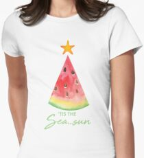Summer Christmas Women's Fitted T-Shirt