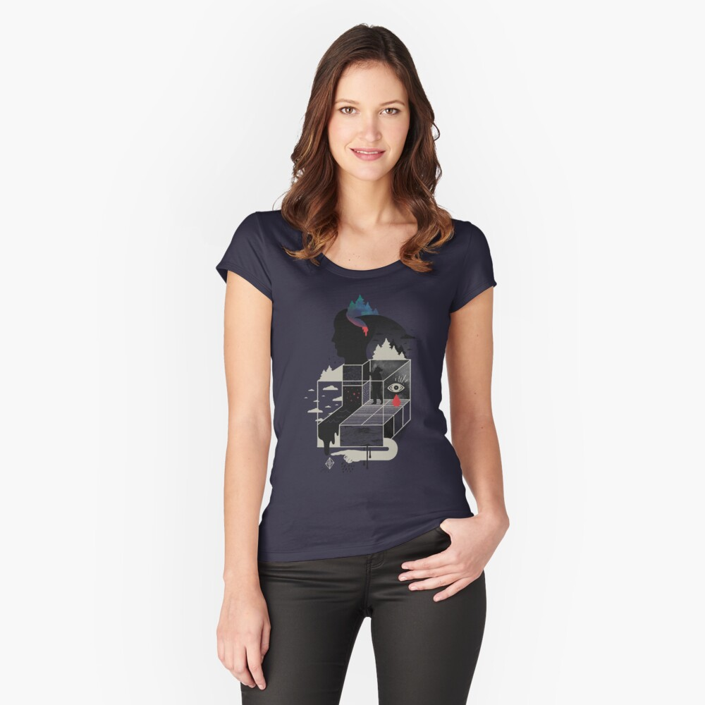 Lucid Screaming Fitted Scoop T-Shirt