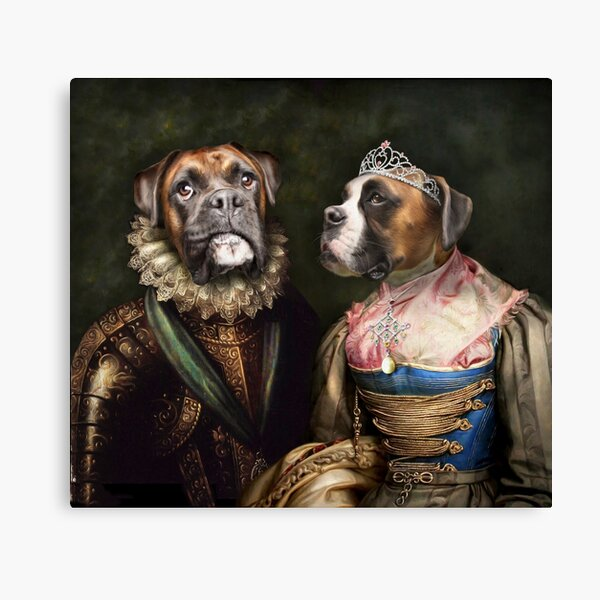 Boxer Dog Portrait - Ruby and Steve Canvas Print