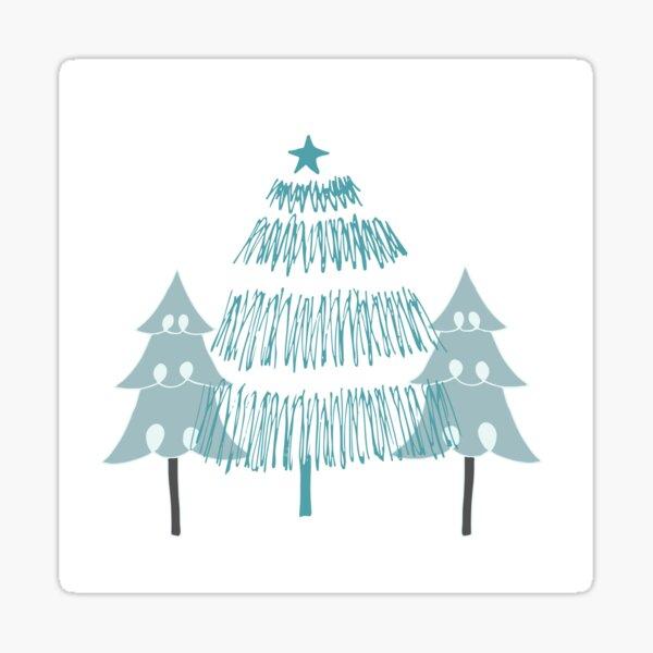 3 trees Sticker
