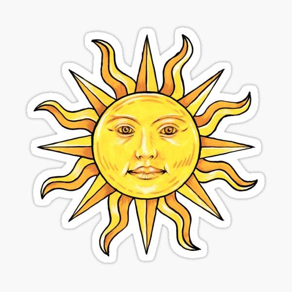A golden sun in splendour Sticker