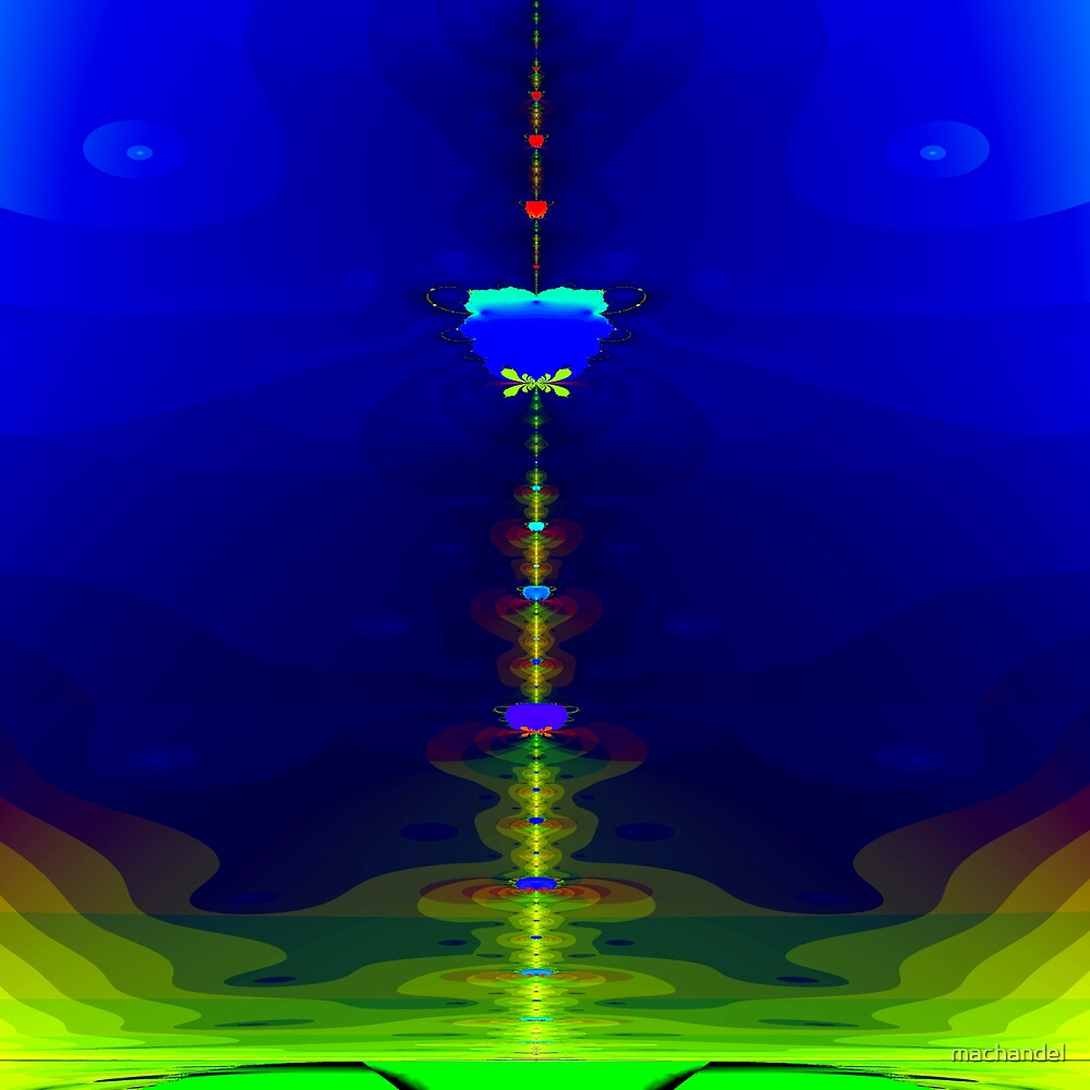 Orbit tower of the Jupiter moon station by machandel