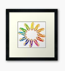 Hightop Colorwheel Framed Print