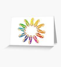 Hightop Colorwheel Greeting Card