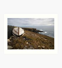 The old boat at Mizen Head Art Print