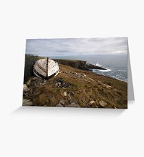 The old boat at Mizen Head Greeting Card