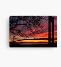Sunrise at the Bridge Canvas Print