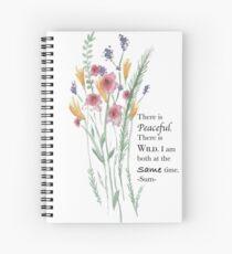 Peaceful Watercolor Flowers Spiral Notebook
