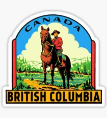 British Columbia Canada vintage Mountie decal Sticker