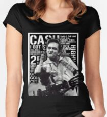 Johnny Cash Women's Fitted Scoop T-Shirt