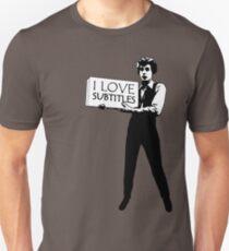 I heart subtitles! Slim Fit T-Shirt