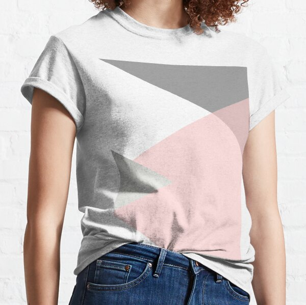 Geometrics - grey blush silver Classic T-Shirt