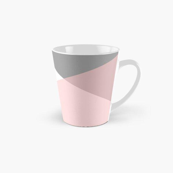 Geometrics - grey blush silver Tall Mug