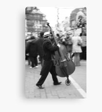 The running Cello Canvas Print