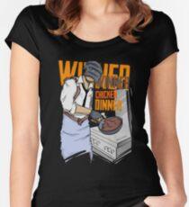 PUBG - Winner, Winner Chicken Dinner Merchandise Women's Fitted Scoop T-Shirt