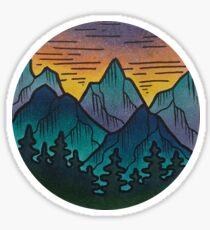 Mountain Evenings Part 1 Sticker