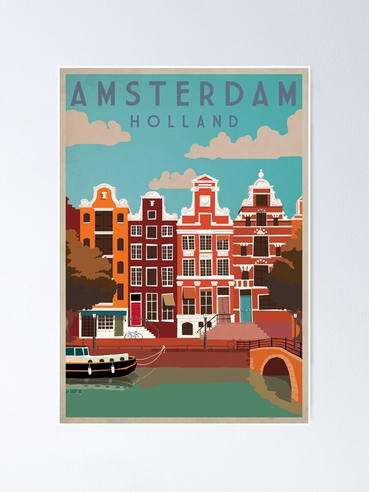Alternate view of Amsterdam, Holland, Travel Poster Poster