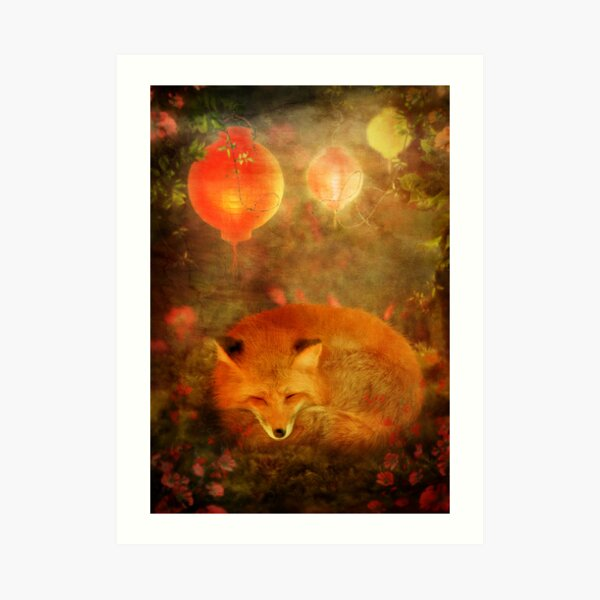Fox Dreams Art Print