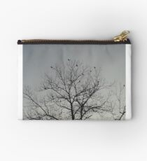 Budgerigars on Pecan tree top Studio Pouch