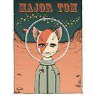 Major Tom Cat T-Shirt by nouvellegamine