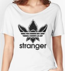 stranger things adidas black Women's Relaxed Fit T-Shirt
