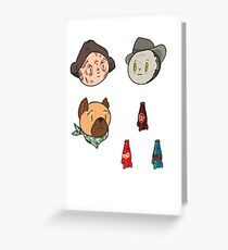 Fallout 4 Companions and Meds! Greeting Card
