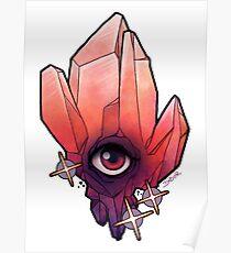 Garnet Crystal Tattoo Flash Poster