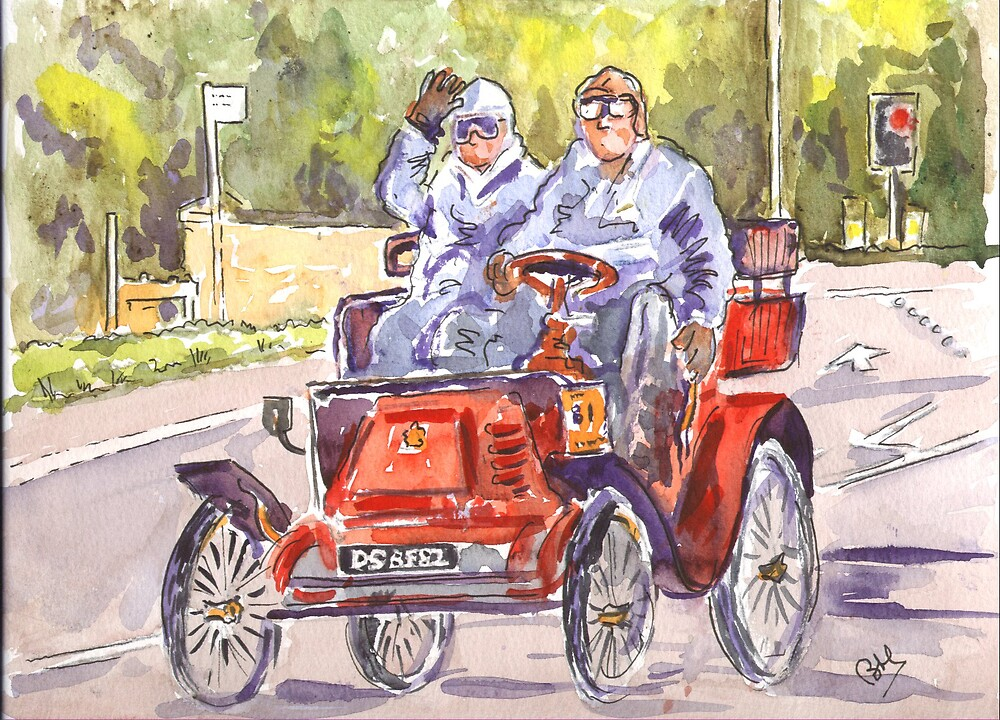 Vintage Car Rally by BRIAN HOLDEN