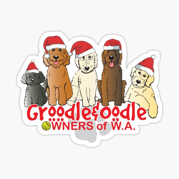 Groodle & Oodle Club Christmas Sticker