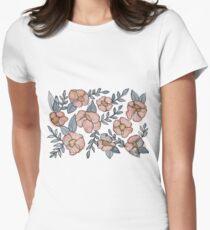 A Little Pink Florals Women's Fitted T-Shirt