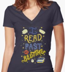 I Read Past my Bedtime Women's Fitted V-Neck T-Shirt