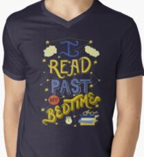 I Read Past my Bedtime Men's V-Neck T-Shirt