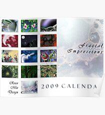 2009 Fractal Impressions Calendar Poster