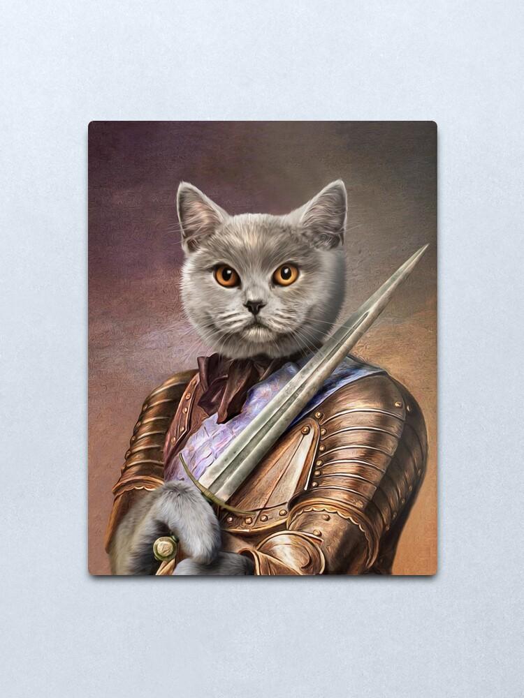 Alternate view of Persian Cat Portrait - Balou Metal Print