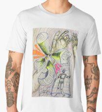 Building Figure Sketch Men's Premium T-Shirt