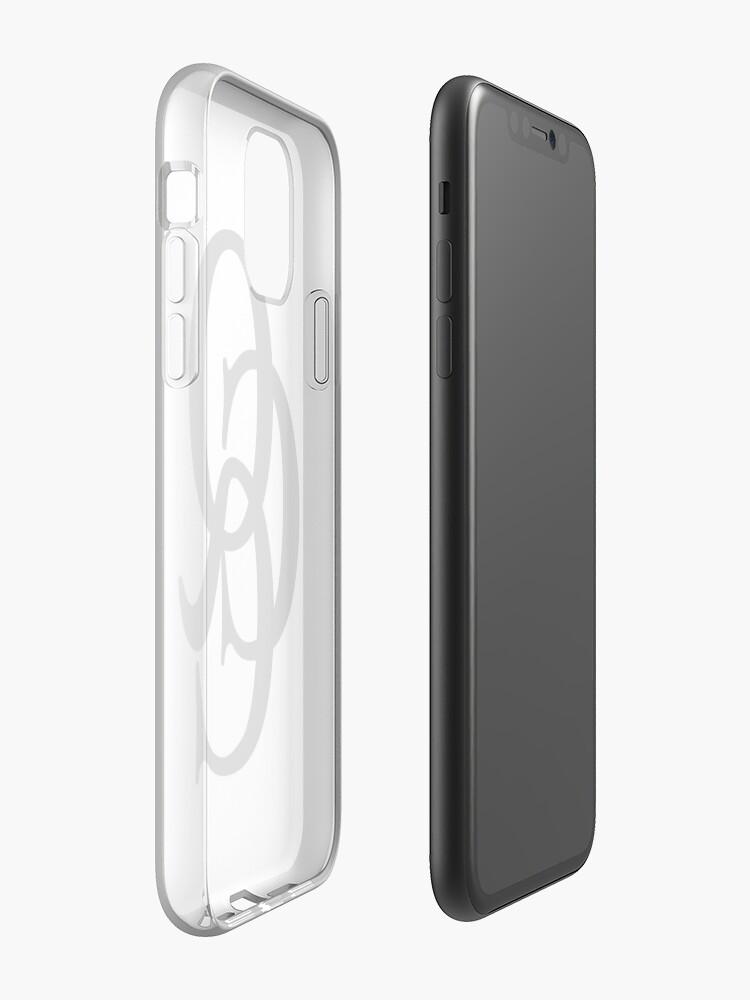 Coque iPhone «Logo QCC noir (taille réelle)», par queenscityclub