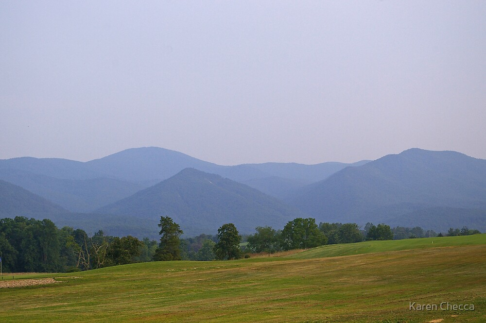 Blue Ridge Mountains in Buena Vista, VA by Karen Checca