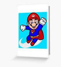 Super Plumber Greeting Card