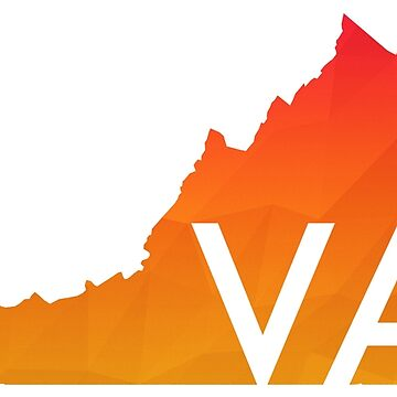 Warm Geometric Virginia with Initials by jshap
