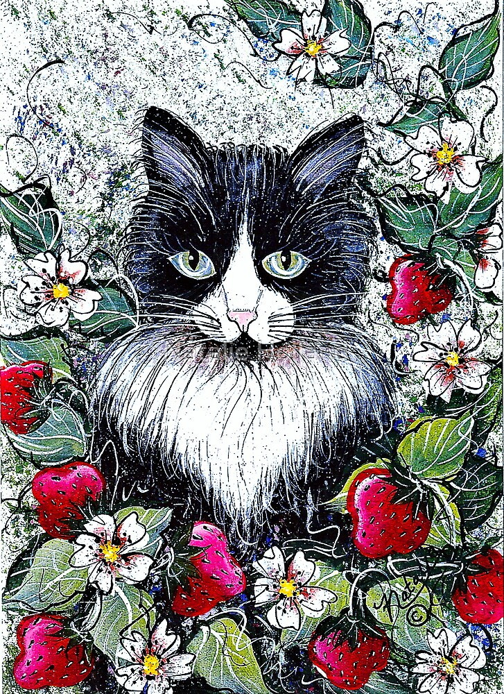 Strawberry Cat by Natalie Holland