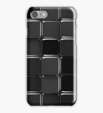 Black glossy mosaic iPhone Case/Skin