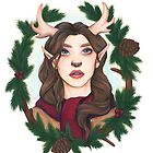 Winter Doe - Copic Marker Art by Ashley Van Dyken