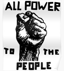 All Power To the People | African American | Black History Poster