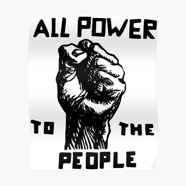 All Power To the People   African American   Black History Poster